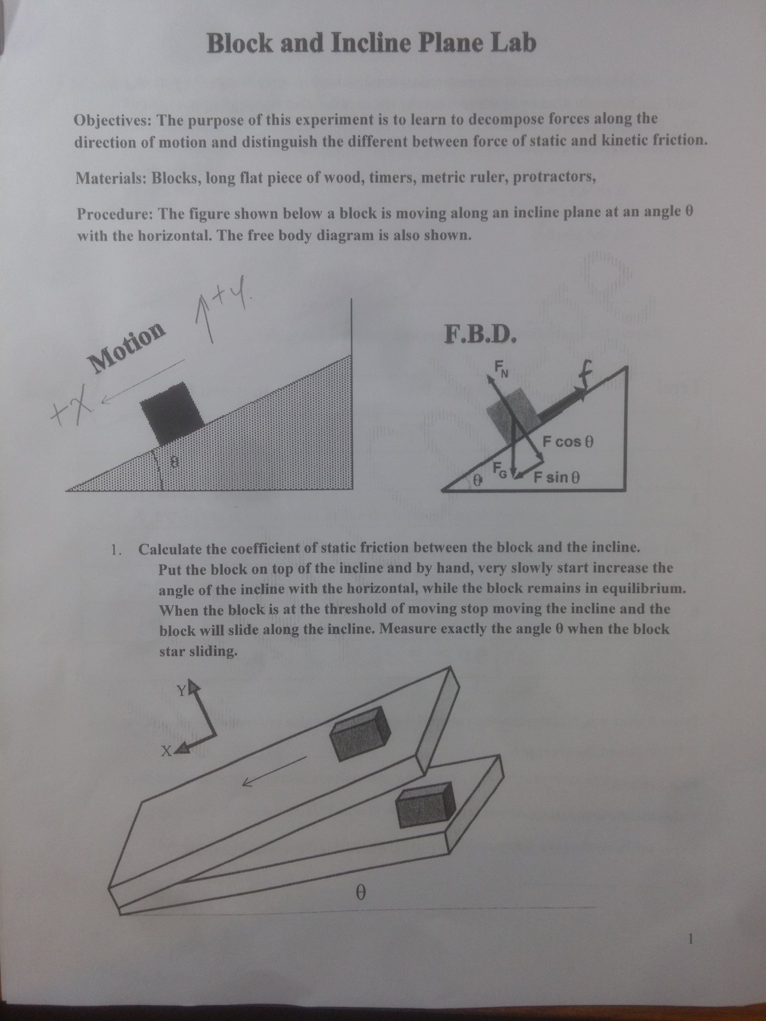 Solved  Physics Block And Incline Plane Lab I Am A Little