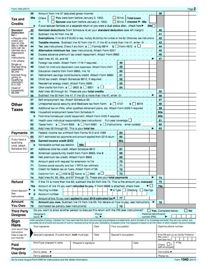 2017 Form 1040 Fashionellaconstance
