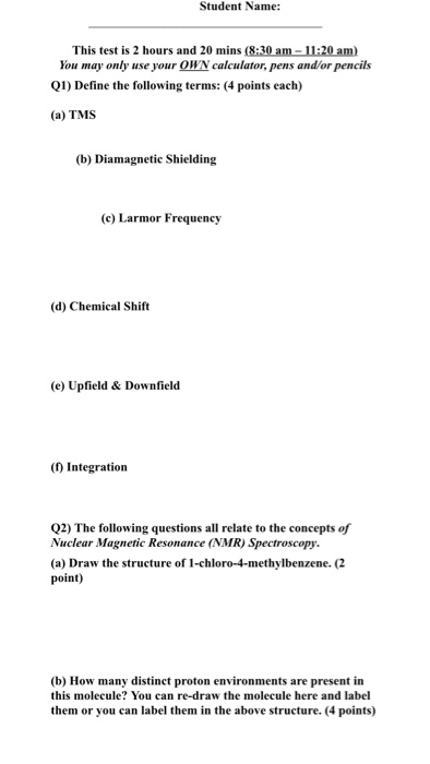 Solved Define The Following Terms T Ms Diamagnetic Shiel