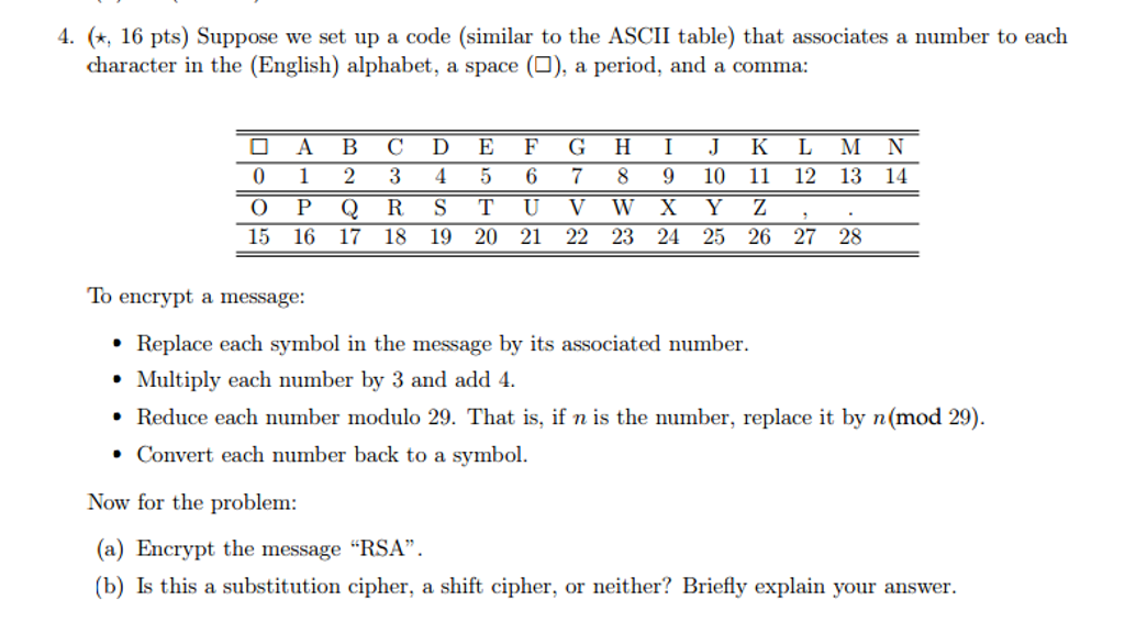 Solved Suppose We Set Up A Code Similar To The Ascii Tab