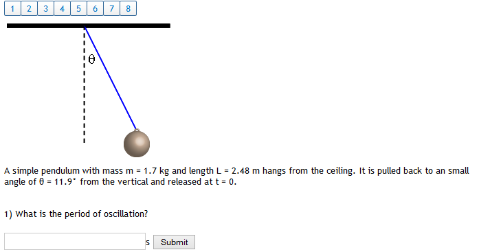 Solved A Simple Pendulum With Mass M 17 Kg And Length