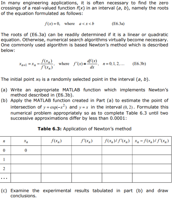 Solved: I Need THE MATLAB Code For This And The Results, I