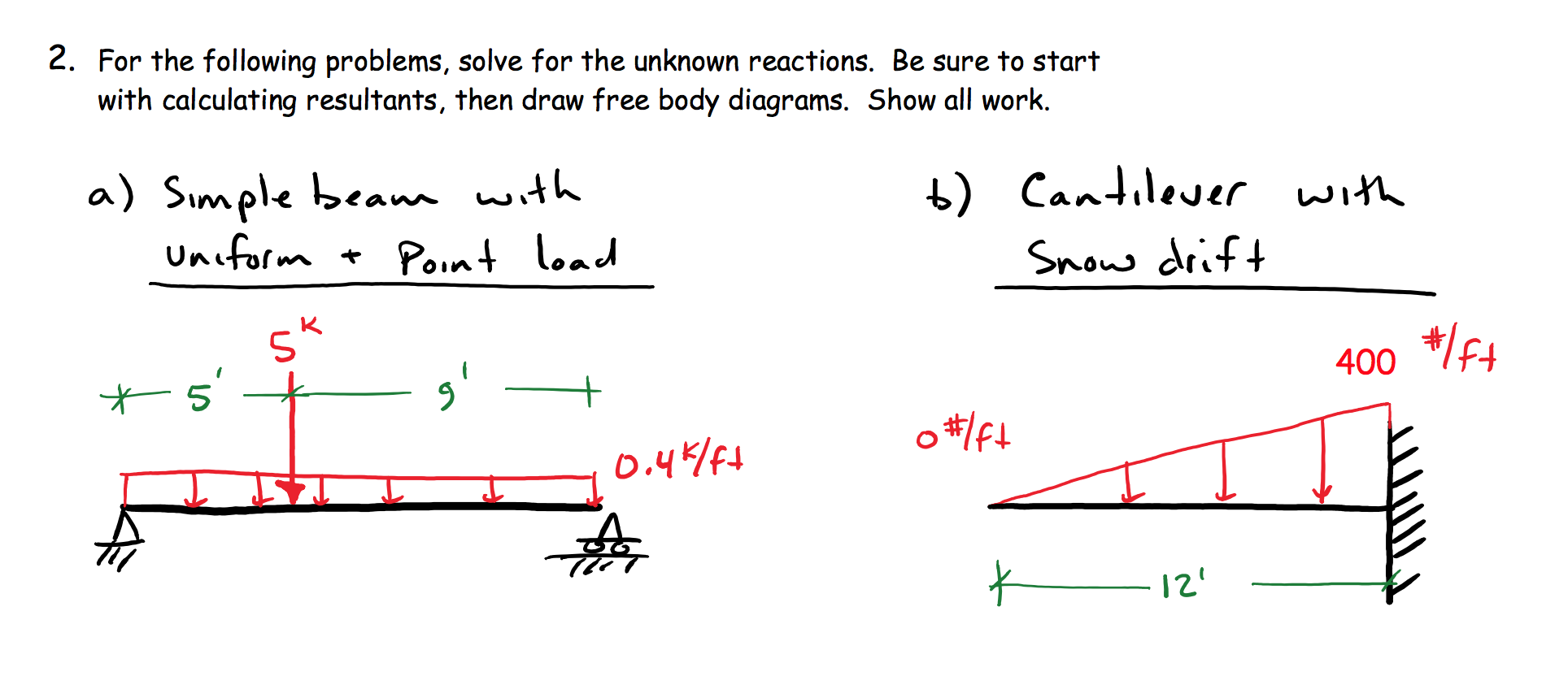 Solved For The Following Problems Solve Unknown Freebody Diagram Is A Simple With Arrows To Represent