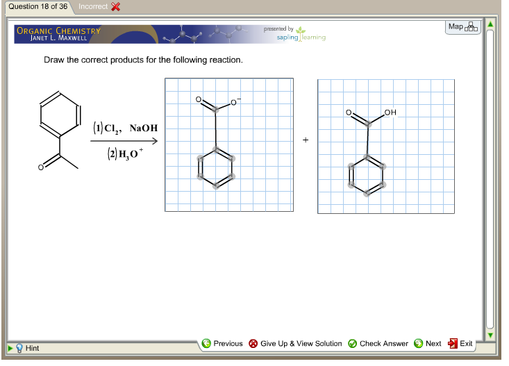Draw The Correct Products For The Following Reaction