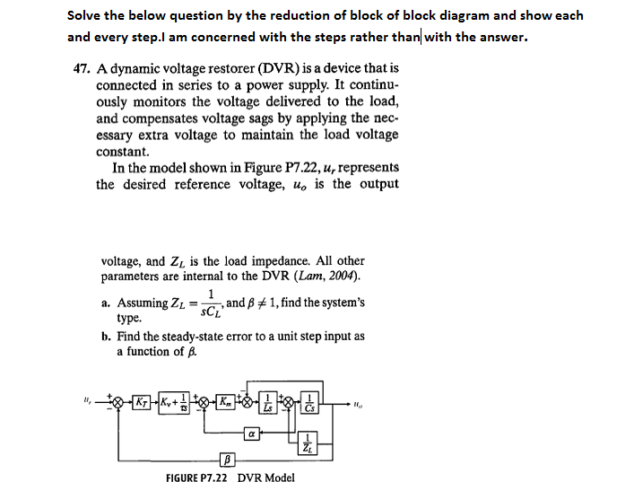 Solved Solve The Below Question By The Reduction Of Block