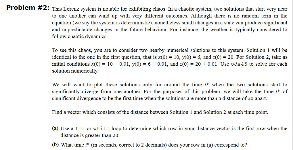 Solved: Need Help With The Matlab Code For Problem 2 (a) A