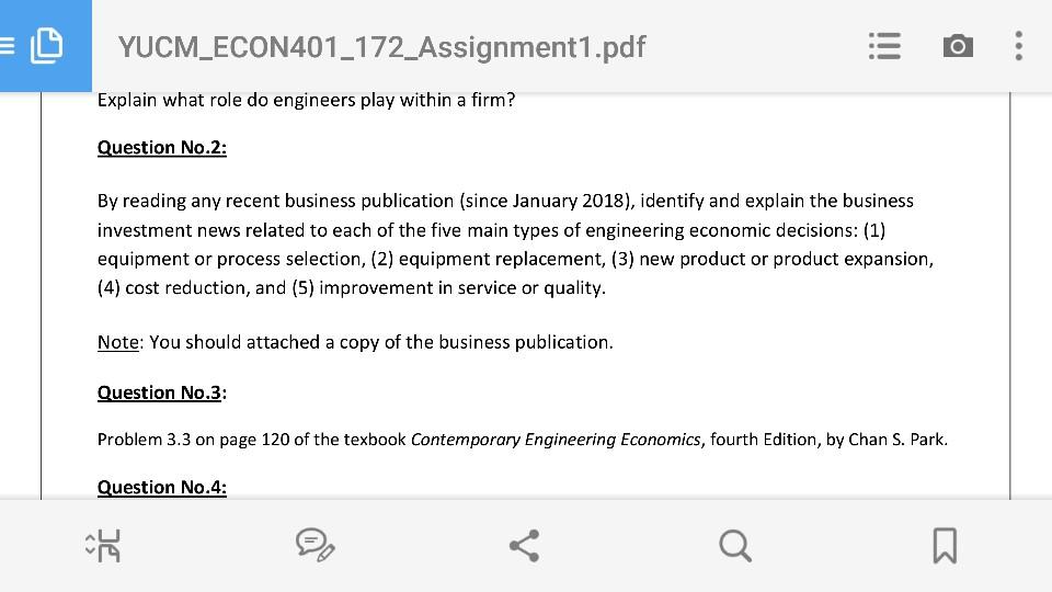 Solved: YUCM_ECON401_172_Assignment1 pdf Explain What Role