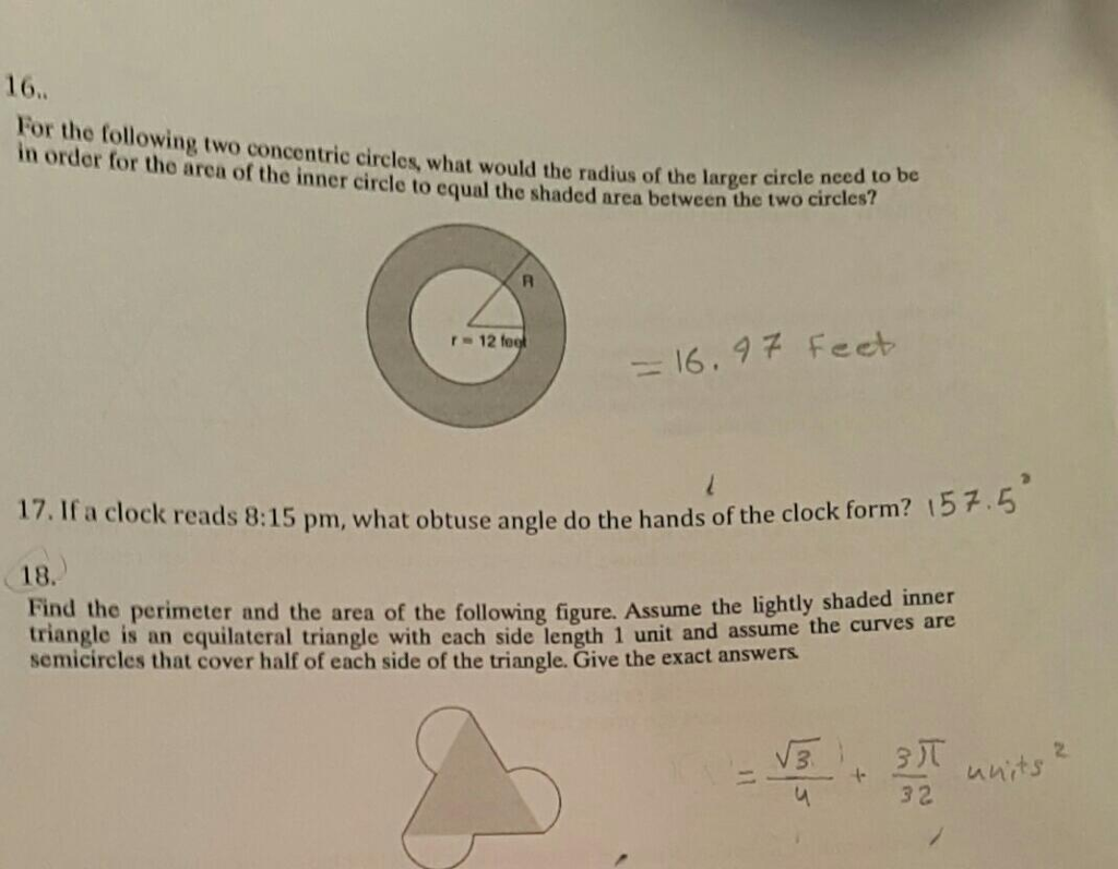 16 For The Following Two Circles What Would The Radius Of The Larger In  Order For