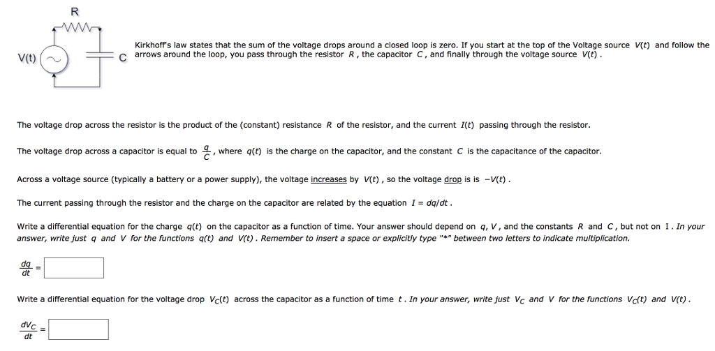 Solved: Kirkhoff's Law States That The Sum Of The Voltage