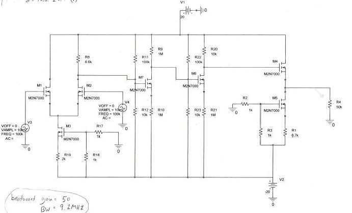 Design An Op Amp, Similar To The One Shown Here  G    | Chegg com