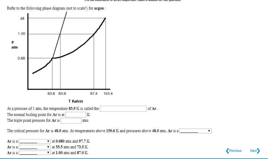 refer to the following phase diagram (not to scale!) for argon 48 1 00