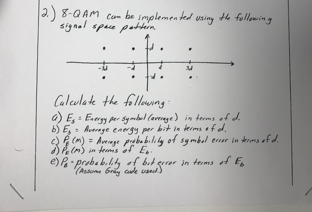 Solved Using The Signal Space Pattern Calculate A E Loc