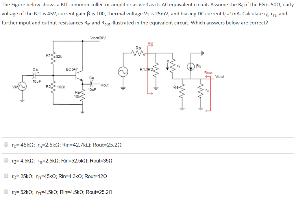 Solved: Figure 1 Illustrates A Common Emitter Amplifier Us ...