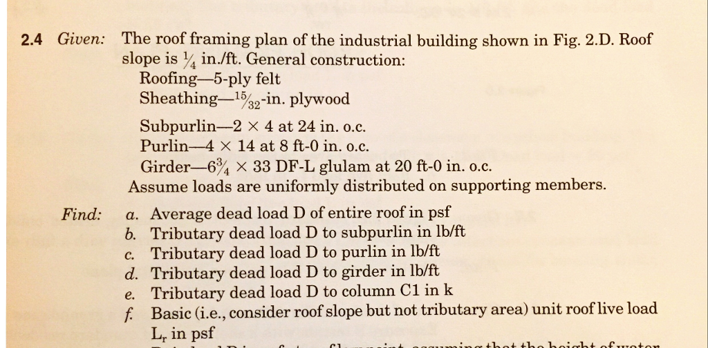 24 Given The Roof Framing Plan Of Industrial Building Shown In Fig 2