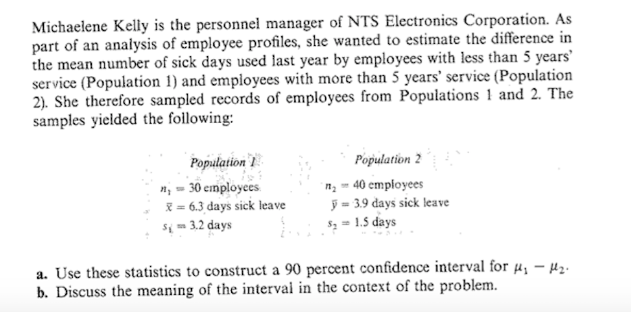 Solved: Michaelene Kelly Is The Personnel Manager Of NTS E