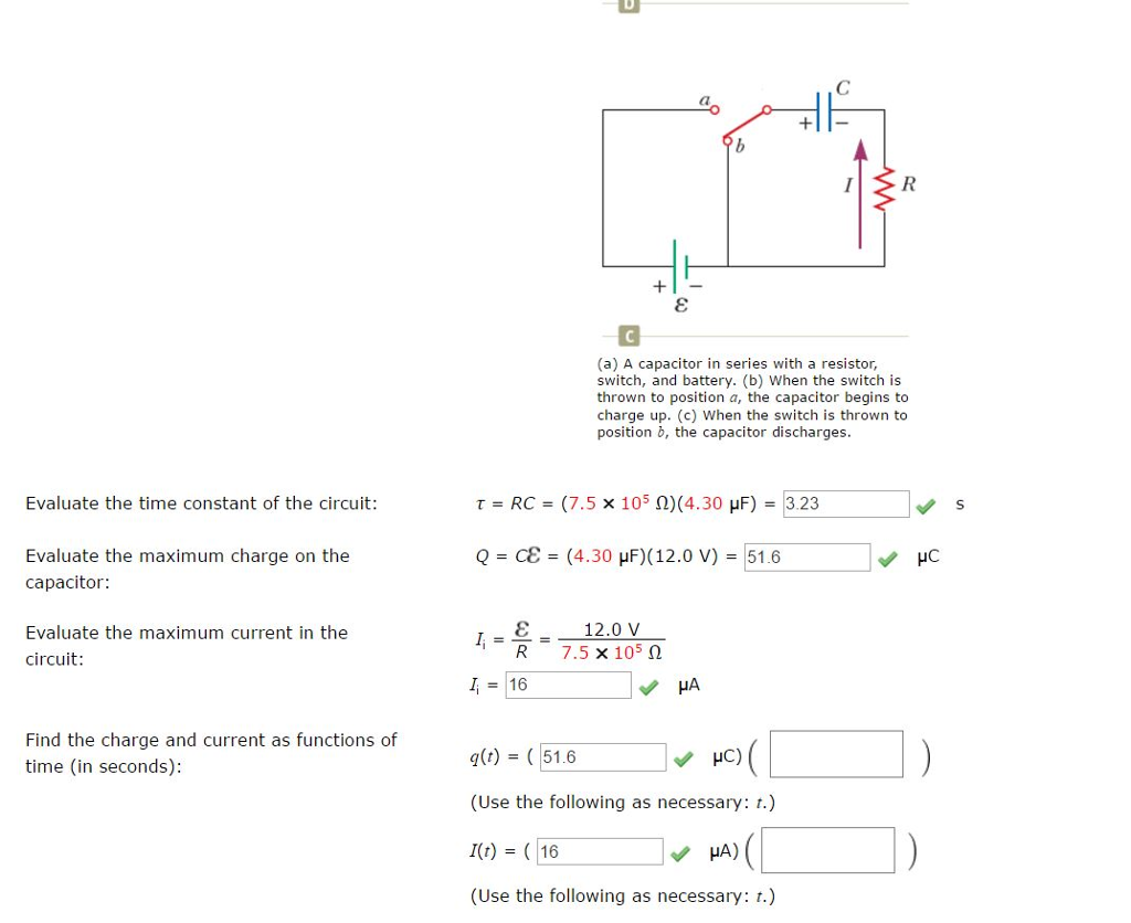 Solved Charging A Capacitor In An Rc Circuit Capaci Discharging Direct Current See More Show Transcribed Image Text Series With Resistor Switch And Battery