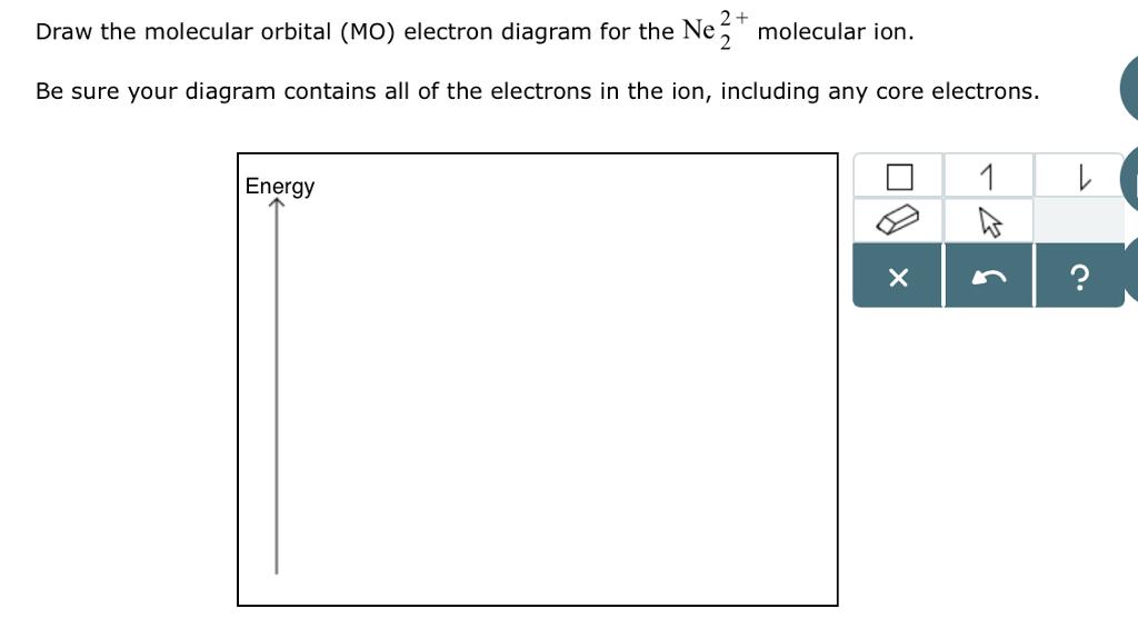 2 + draw the molecular orbital (mo) electron diagram for the ne 2 molecular