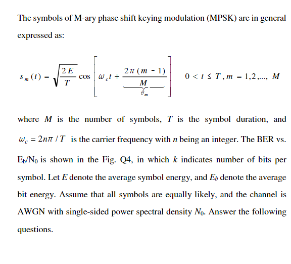 Solved: The Symbols Of M-ary Phase Shift Keying Modulation