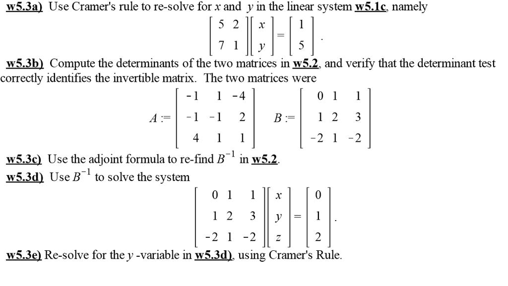 cramers rule