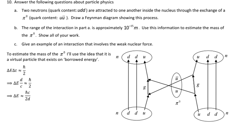Solved Need An Explanation For This Particle Physics Ques
