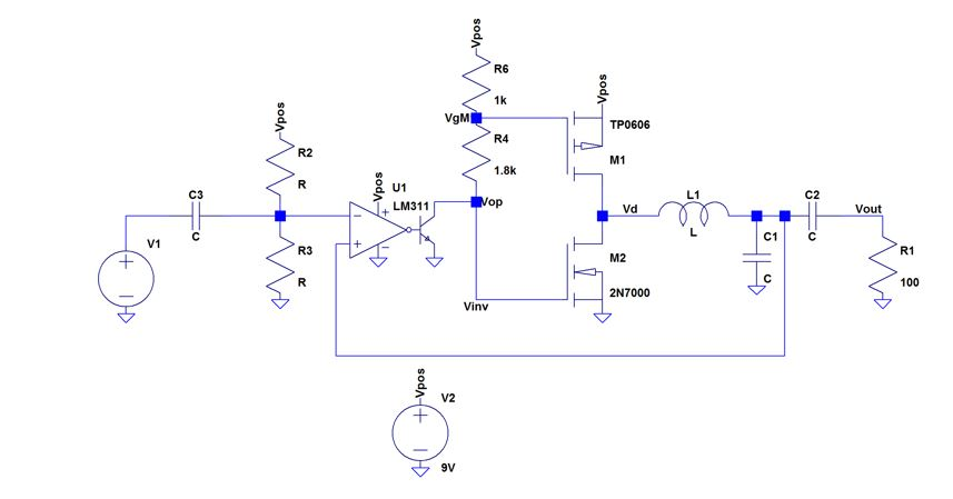 Design A Self-oscillating Class-D Amplifier, As In    | Chegg com