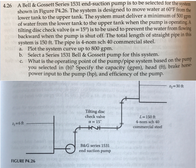 Solved: A Bell & Gossett Series 1531 End-suction Pump Is T