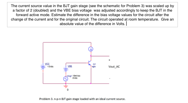 Solved: The Current Source Value In The BJT Gain Stage (se ...