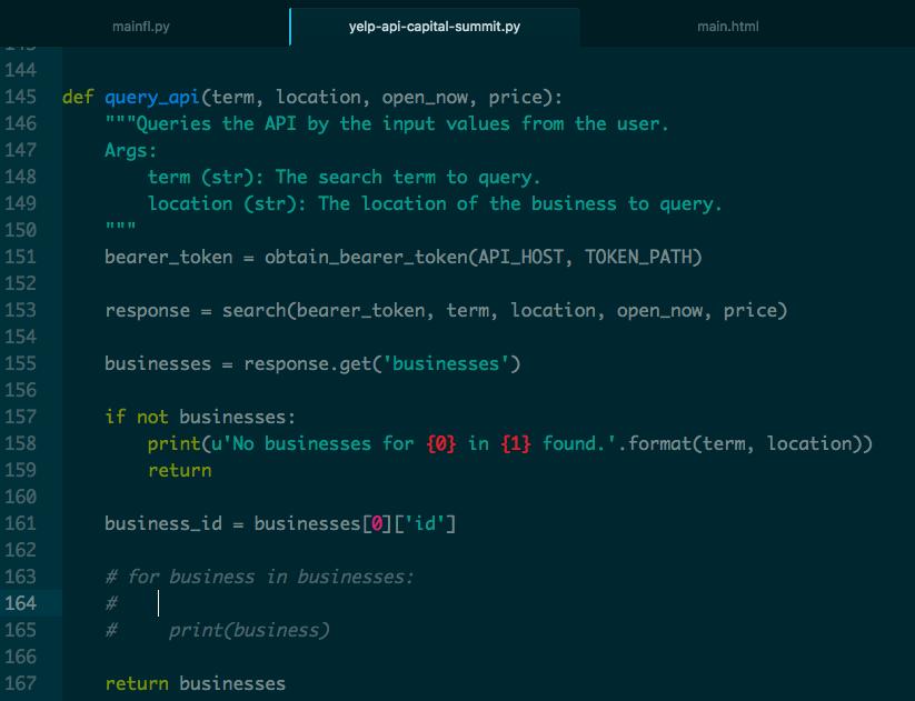 Solved: I Am Making An App Using The Yelp Fusion API  I Ma