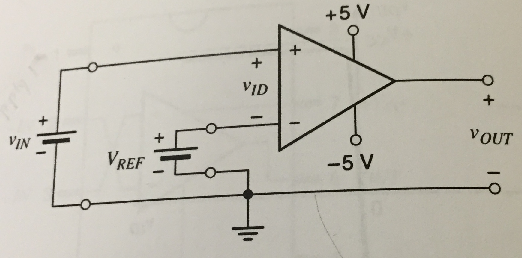 Solved Op Amp As A Comparator Consider The Circuit In Diagram For Opamp Image Figure Define Vid