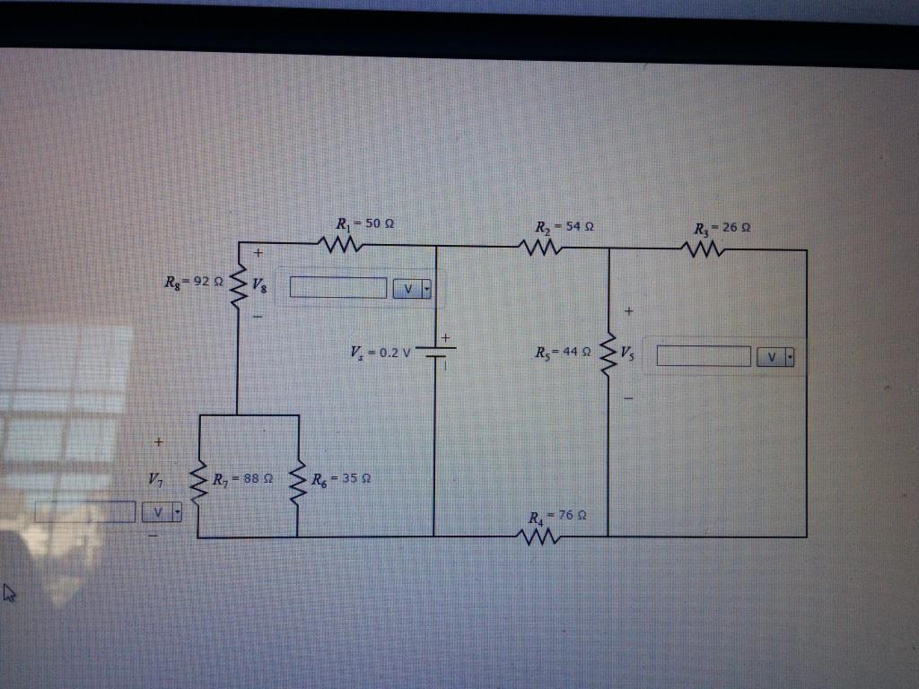 Solved Part A Voltage Division 1 For The Circuit Dc Analysis Divider E Calculating Currents In Resistive Network