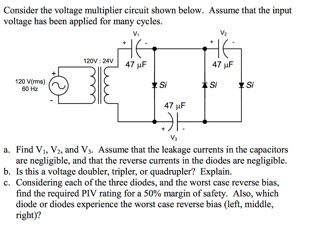 Tremendous Consider The Voltage Multiplier Circuit Shown Belo Chegg Com Wiring Digital Resources Indicompassionincorg