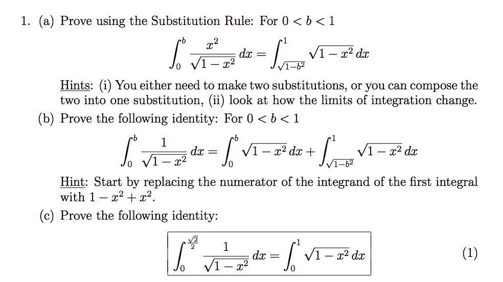 solved 1 a prove using the substitution rule for 0