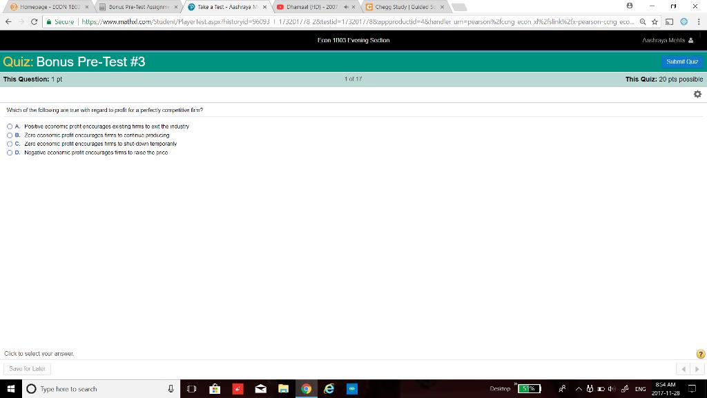 Solved: Homepage ECON 1 B0: ,- Bonus Pre-Test S Signm @ Ta