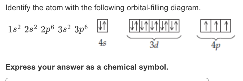 Solved  Identify The Atom With The Following Orbital