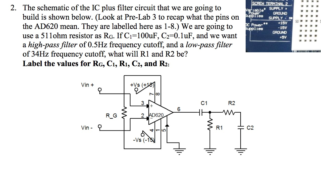 solved the schematic of the ic plus filter circuit that w rh chegg com