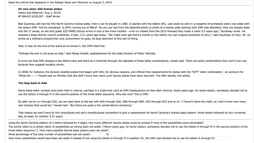 Solved: Bob Goudreau Still Has His First North Carolina Li ...