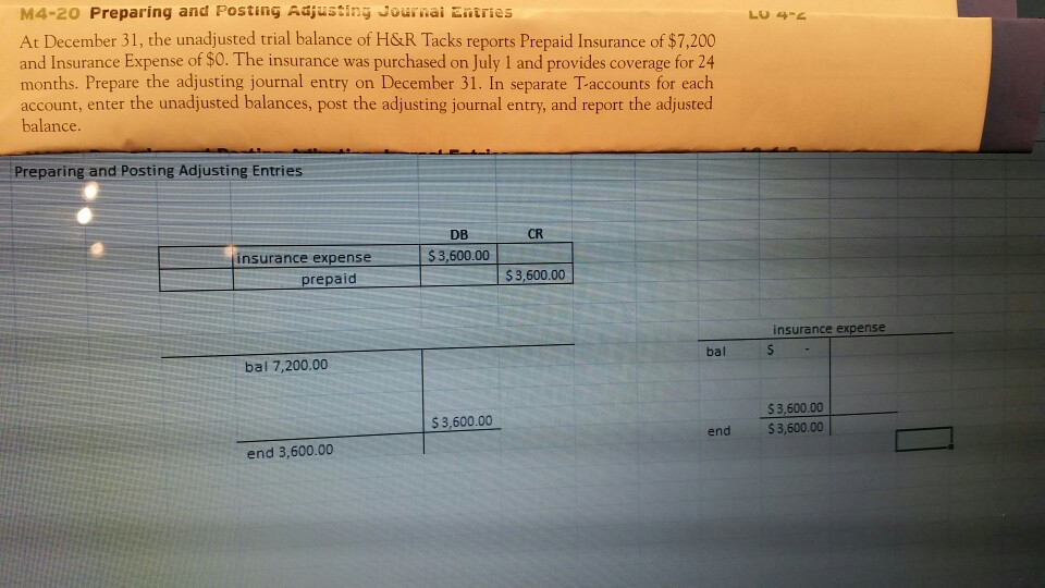 how to show depreciation on trial balance