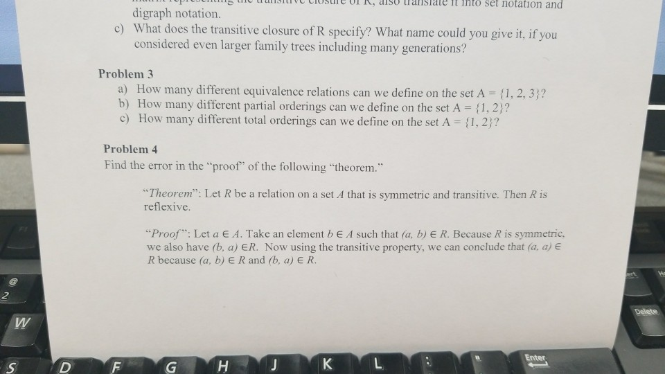 Solved: Can I Get Some Help With Discrete Mathematics Ques