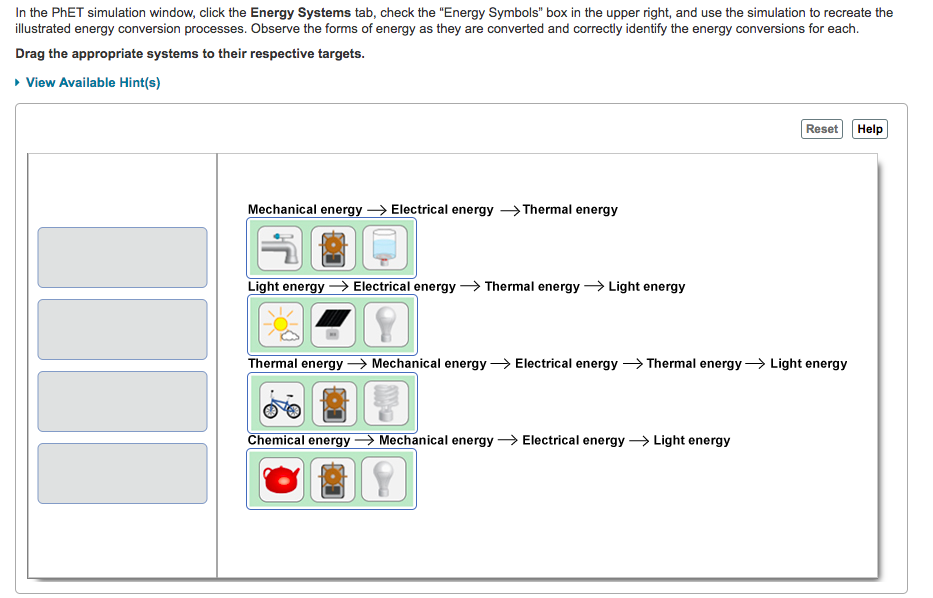 Solved: In The PhET Simulation Window, Click The Energy Sy ...