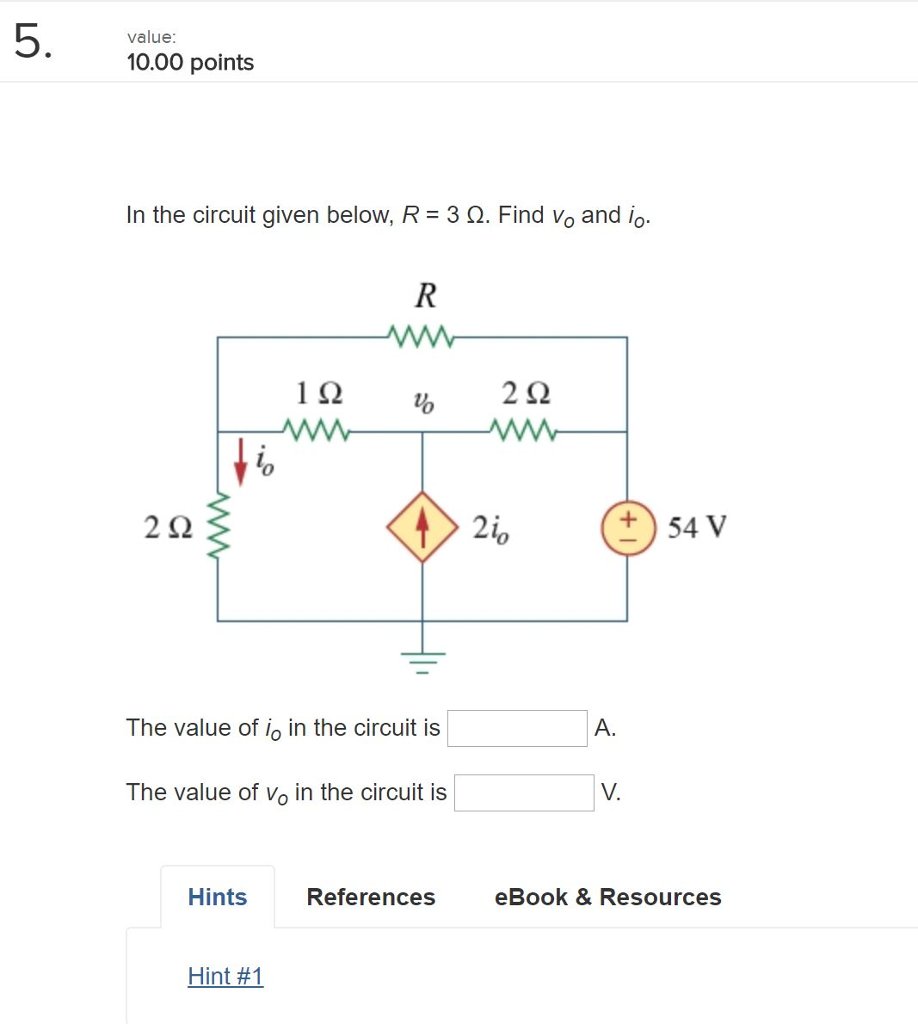 Electrical engineering archive february 26 2018 chegg 1 answer 5 value 1000 points in the circuit given below r 3 fandeluxe Gallery