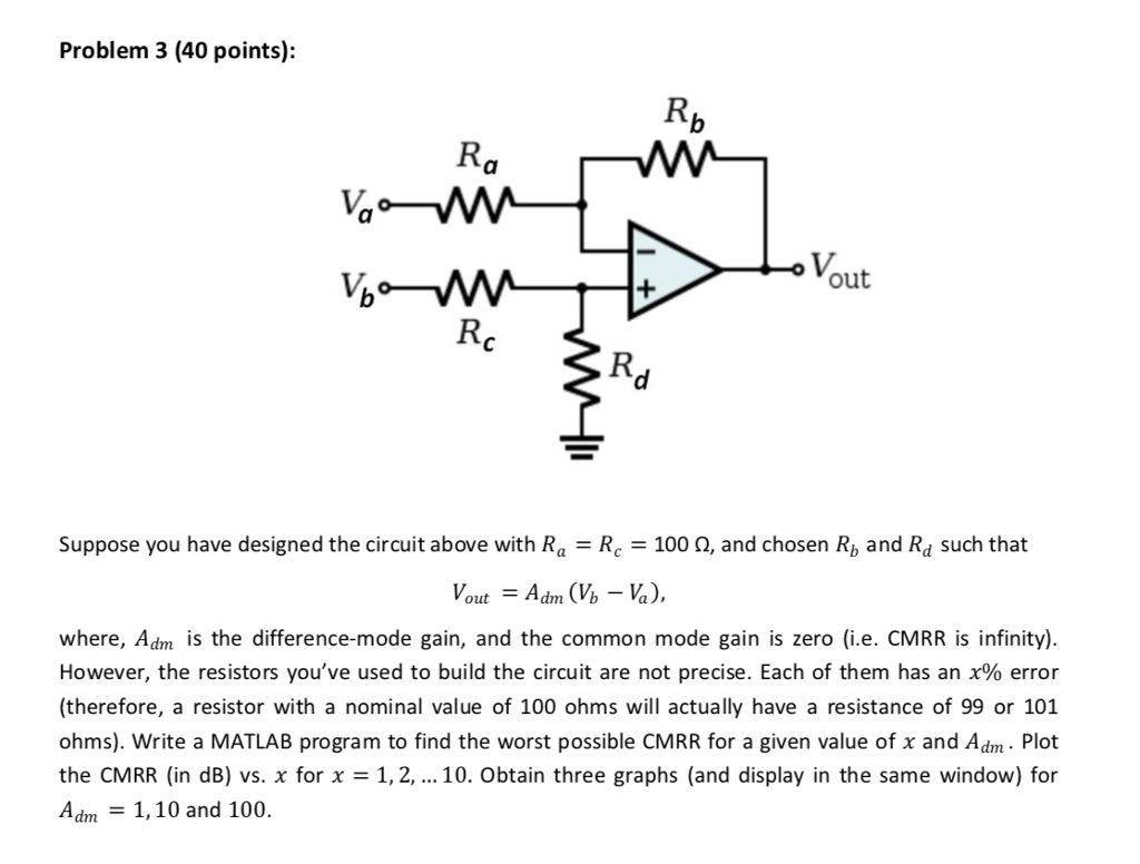 solved problem 3 40 points out rc suppose you have des rh chegg com