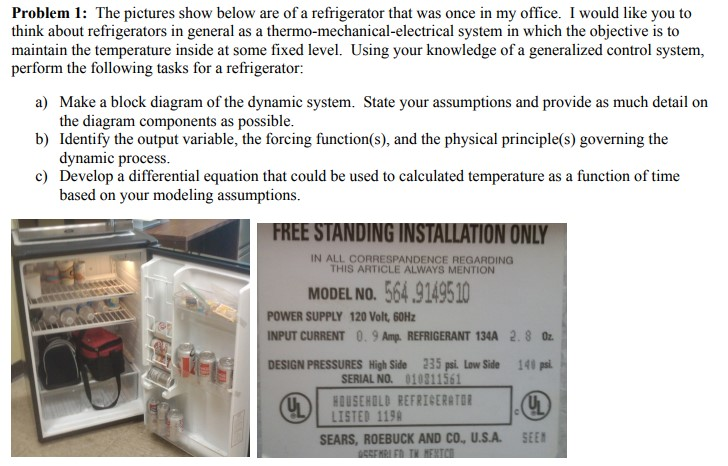 Solved can anyone help me with this type of problem real problem 1 the pictures show below are of a refrigerator that was once in my publicscrutiny Image collections
