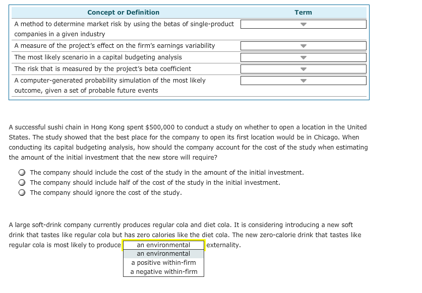 Finance archive april 23 2017 chegg concept or definition term a method to determine market risk by using the betas of single fandeluxe Choice Image
