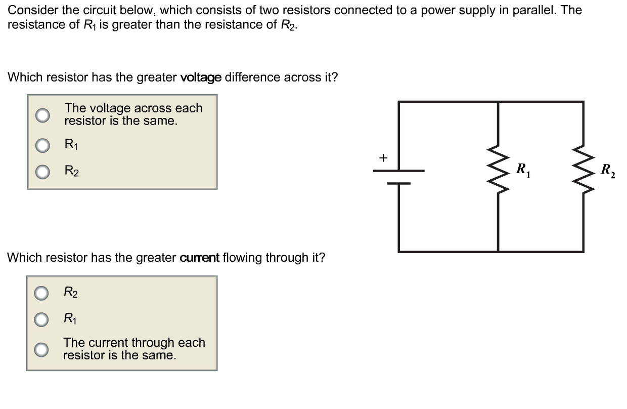Solved Consider The Circuit Below Which Consists Of Two Series Diagram With 2 Resistors In