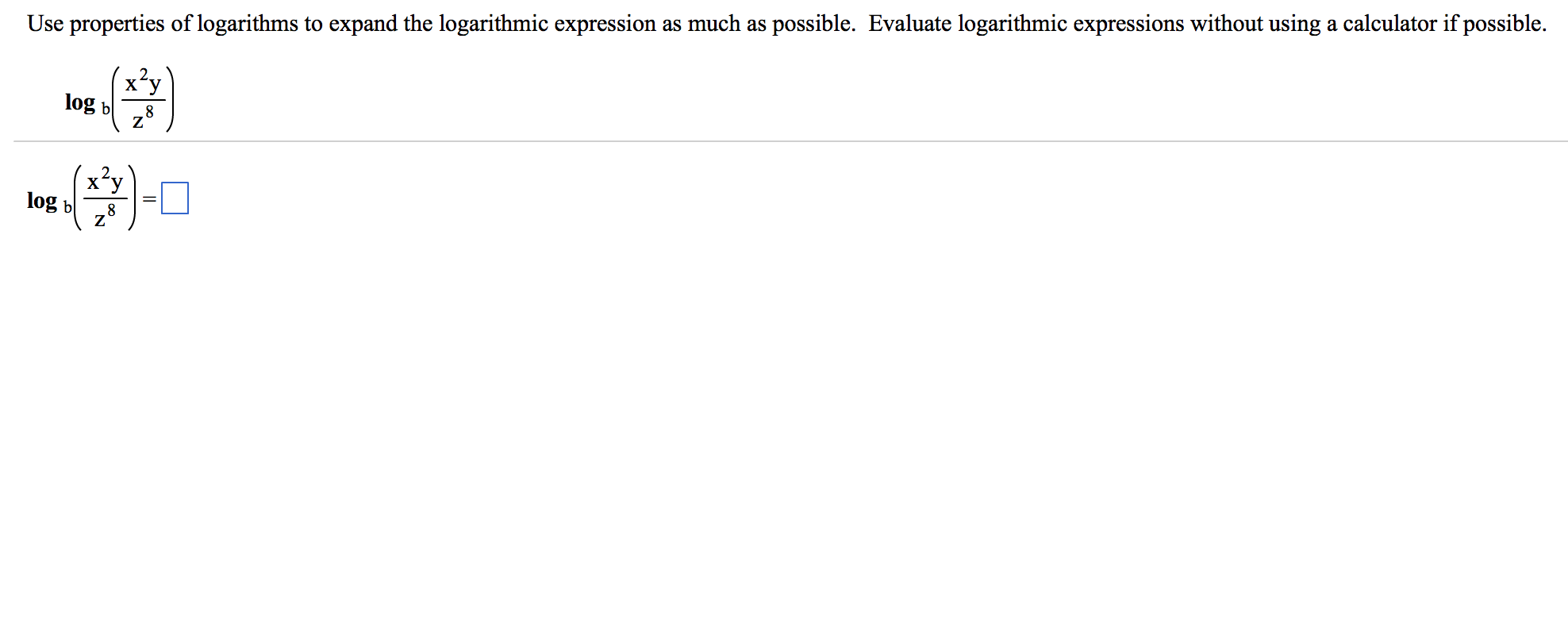 Precalculus archive june 29 2015 chegg image for use properties of logarithms to expand the logarithmic expression as much as possible falaconquin