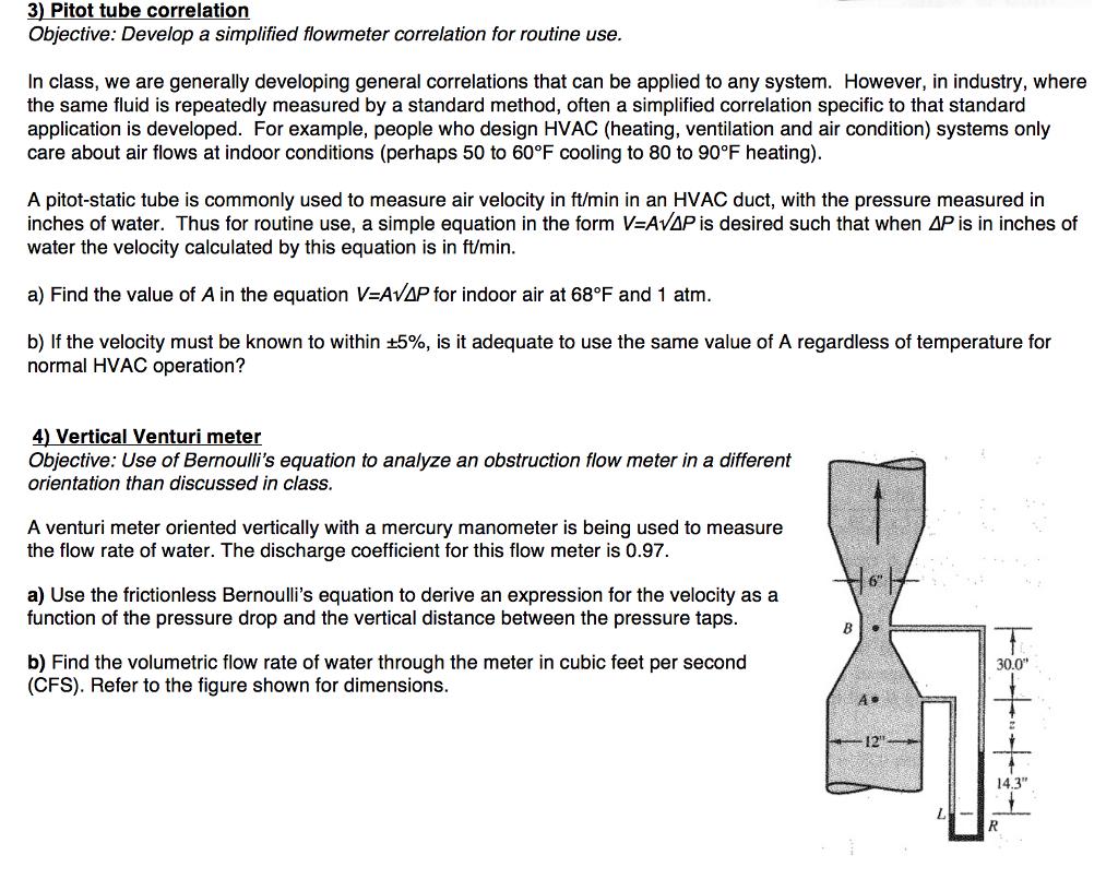 3) Pitot Tube Correlation Objective: Develop A Sim