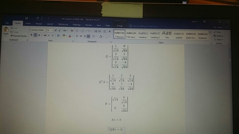Solved: Linear Last Squares  Solve This Problem By Using N