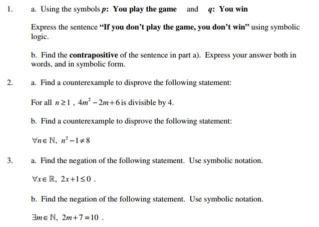 Solved A Using The Symbols P You Play The Game And Q Y