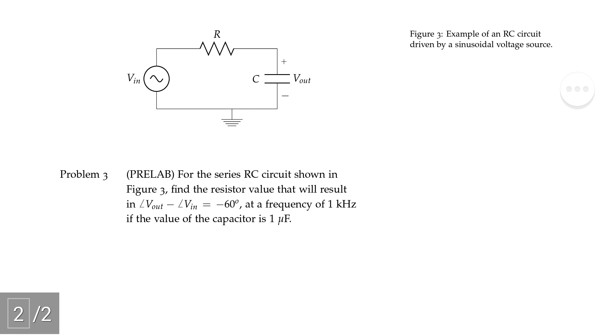 solved figure example of an rc circuit driven by a sinuimage for figure example of an rc circuit driven by a sinusoidal voltage source