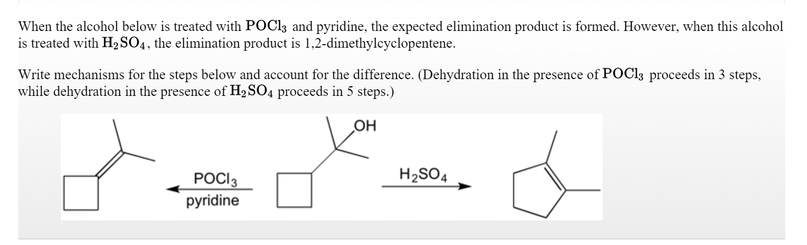 Solved When The Alcohol Below Is Treated With Pocl3 And P